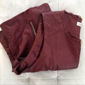 Calvin Klein | Faux Leather Vest